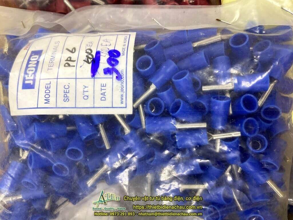 Đầu cos đồng pin rỗng bọc nhựa Jeono Hàn quốc chất lượng cao